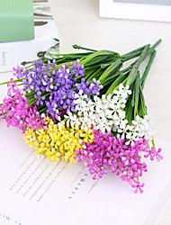 economico -La plastica di simulazione 4pcs fiori aglaia odorata 7 forcella 70 testa erba del porro