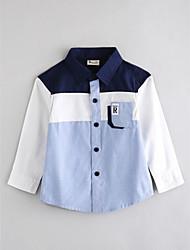 preiswerte -Jungen Hemd Streifen Baumwolle Herbst Lange Ärmel