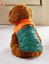 cheap -Dog Vest Dog Clothes Casual/Daily Convertible Dress British Coffee Green Costume For Pets