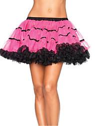 cheap -Women's Club Mini Skirts,Sexy Swing Layered Solid All Seasons