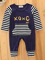 abordables -bébé Une-Pièce Garçon Rayure Mode Coton Printemps/Automne Eté Manches Longues Body One Piece Pantalons Basique Ouvert Haute qualité