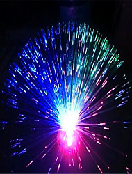 cheap -1PC Colorful Flashlight Fiber Optical Starry Fluorescence Rose Flowers Light Lamp with out battery