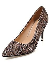 preiswerte -Damen Schuhe maßgeschneiderte Werkstoffe Frühling Sommer Pumps High Heels Spitze Zehe Tupfen Für Kleid Party & Festivität Schwarz Rot