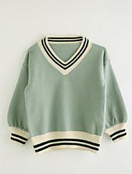 Girls' Solid Blouse,Cotton Fall Long Sleeve Light Green