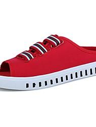 Masculino sapatos Tecido Primavera Outono Conforto Sandálias Para Casual Branco Preto Vermelho
