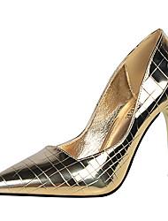 baratos -Mulheres Sapatos Couro Ecológico Primavera Verão Conforto Plataforma Básica Saltos Salto Agulha Dedo Apontado Dedo Fechado Estampa Animal
