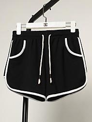 cheap -Women's High Rise Micro-elastic Wide Leg Shorts Pants,Active Striped Summer