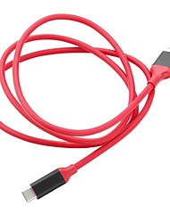 abordables -USB 3.1 Tipo C Cable adaptador, USB 3.1 Tipo C to USB 3.0 Tipo C Cable adaptador Macho - Macho 1,0 m (3 pies)