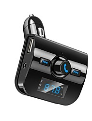 cheap -Bluetooth Car Kit Hands-free Call FM Transmitter Radio Adapter Stereo MP3 Music Player Dual USB Charger AUX TF Card Port