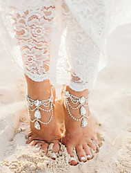 cheap -Drop Multi Layer Rhinestone - Women's Gold / Silver Sexy / Multi Layer Anklet For Bikini / Going out