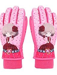 baratos -Luvas de Esqui Crianças Dedo Total Manter Quente Protecção Tecido Algodão Esportes de Neve Inverno
