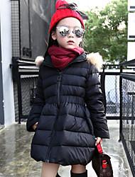 Piumino e giubbino di cotone Da ragazza Poliestere Collage Autunno Inverno Manica lunga