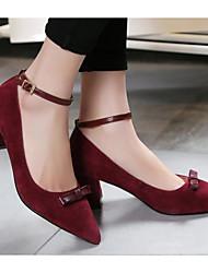Damen Schuhe Echtes Leder Frühling Herbst Pumps High Heels Für Normal Schwarz Burgund