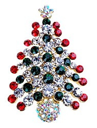 cheap -Women's Brooches Rhinestone Simple Sweet Rhinestone Alloy Tree of Life Jewelry For Gift Christmas