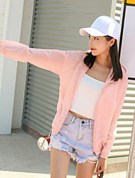 cheap -Women's Daily Vintage Fall Jacket,Floral Print Hooded Long Sleeve Regular Others