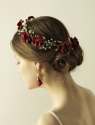 cheap -Fabric Flowers Head Chain 1 Wedding Party / Evening Headpiece