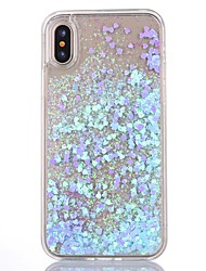 cheap -For iPhone X iPhone 8 iPhone 8 Plus iPhone 5 Case Case Cover Flowing Liquid Transparent Back Cover Case Glitter Shine Hard PC for iPhone