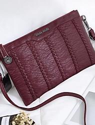 preiswerte -Damen Taschen Schaffell Schultertasche Reißverschluss für Normal Schwarz / Rote / Grau