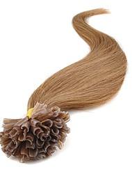 baratos -Febay Queratina / Ponta U Extensões de cabelo humano Clássico Extensões de Cabelo Natural Cabelo Humano Mulheres - Ruivo Escuro Loiro Marrom Médio