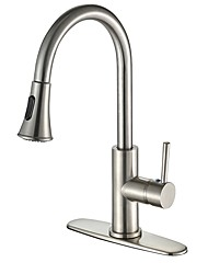 cheap -Kitchen faucet - Contemporary Nickel Brushed Variety Centerset