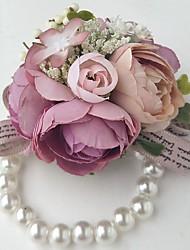 """preiswerte -Hochzeitsblumen Armbandblume Hochzeit Polyester 3.94""""(ca.10cm) 10 cm ca."""