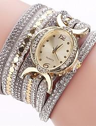 abordables -Mujer Reloj Pulsera / Simulado Diamante Reloj Chino La imitación de diamante PU Banda Encanto / Casual / Moda Negro / Azul / Rojo