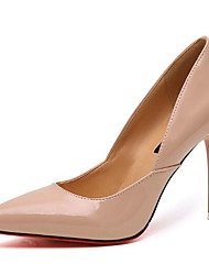 cheap -Women's Shoes Patent Leather Spring Fall Basic Pump Heels Stiletto Heel For Casual Almond Silver Black Gold