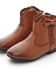 Mädchen Schuhe Leder Herbst Winter Komfort Stiefel Für Normal Schwarz Gelb