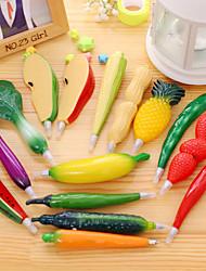 1PCS Fruit Plastic Ballpoint Pens Creative Vegetables Ball point pen for Kids Gift Ramdon Color