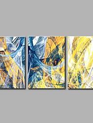 economico -Dipinta a mano Astratto Semplice Modern Tre Pannelli Tela Hang-Dipinto ad olio For Decorazioni per la casa
