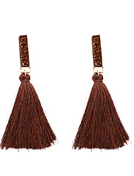 cheap -Women's Tassel / Long Drop Earrings - Tassel, Fashion Light Brown / Light Pink / Dark Brown For Gift / Daily