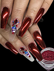 0.15g/pcs Christmas Red Nail Glitter Powder Shining Mirror Effect Nail Art