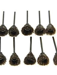 10kpl kulho muoto hiominen kiillotus kuorintavahvistus mane harja - musta ruskea