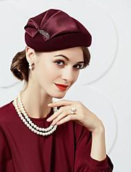 шерстяные шелковые шляпы головной убор свадебная вечеринка элегантный классический женский стиль