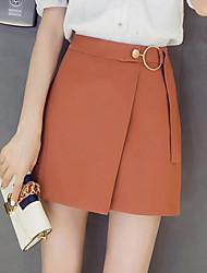 cheap -Women's Work Club Midi Skirts Solid All Seasons
