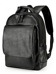 Недорогие -Для мужчин Мешки Полиуретан рюкзак Молнии Карман для Путешествия на открытом воздухе Все сезоны Коричневый Черный