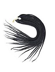"""Box Braids Hair Braid Afro 100% Kanekalon Hair Medium Brown Black/Strawberry Blonde Medium Auburn Dark Brown Dark Black 24"""" Braiding Hair"""