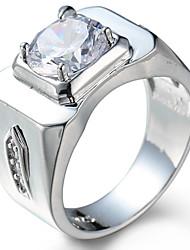 preiswerte -Herrn Damen Knöchel-Ring Verlobungsring Kubikzirkonia Zirkon Kupfer Kreisförmig Schmuck Hochzeit Party Geburtstag Abschluss Verlobung