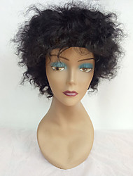 cheap -Human Hair Capless Wigs Human Hair Afro For Black Women Short Machine Made Capless Wig Women's
