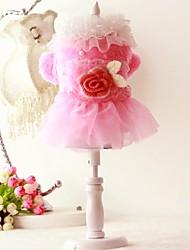 Chien Robe Vêtements pour Chien Soirée Britannique Rose Costume Pour les animaux domestiques