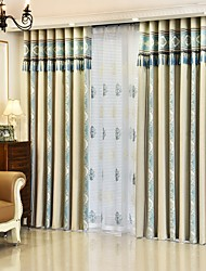 cheap -Rod Pocket Grommet Top Tab Top Double Pleat Pencil Pleat Curtain European, Yarn Dyed Stripe Bedroom Material Curtains Drapes Home