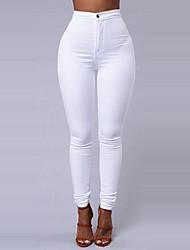 economico -Per donna Essenziale magro Pantaloni - Tinta unita