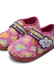 Girls' Shoes Fleece Winter Comfort Loafers & Slip-Ons For Casual Light Blue Blushing Pink