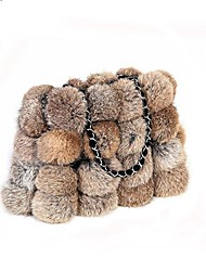 cheap -Women Bags Fur Tote Feathers / Fur for Event/Party Shopping Winter Black Red Gray Camel