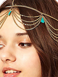 cheap -Women's Alloy Others Head Chain,Vintage Style Boho Turquoise Spring/Fall All Seasons