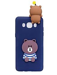 preiswerte -Hülle Für Samsung Galaxy J7 (2017) J3 (2017) Muster Heimwerken Rückseite 3D Zeichentrick Cartoon Design Weich TPU für J7 (2017) J7 (2016)