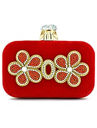 cheap -Women Bags Suede Evening Bag Embroidery for Wedding Formal All Seasons Blue Black Red Purple Fuchsia