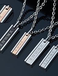 Недорогие -Персональный подарок Ожерелье Титановая сталь Для пары Современный Геометрия Творчество На каждый день Пара обуви Мода Подарок Модерн
