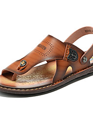 cheap -Men's Shoes Outdoor / Office & Career / Athletic / Dress / Casual Nappa Leather Sandals Brown