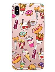 Кейс для Назначение Apple iPhone X iPhone 8 iPhone 8 Plus Прозрачный С узором Задняя крышка Продукты питания Мягкий TPU для iPhone X